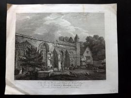 Hearne & Byrne 1796 Antique Print. View of St. Peter's, Oxford